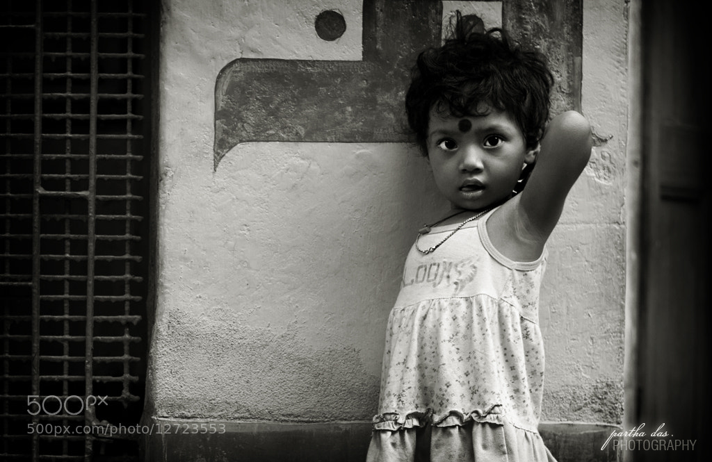 Photograph little miss shy... by Partha Das on 500px