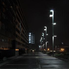 Photograph StreetlightAlley by Lukas Bachschwell