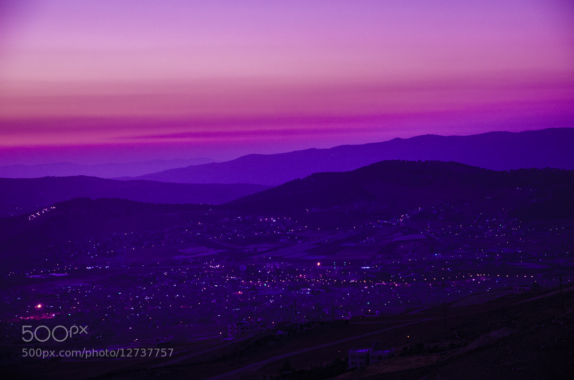 Photograph Mountain,City,Dusk, All in one by jamil ghanayem on 500px
