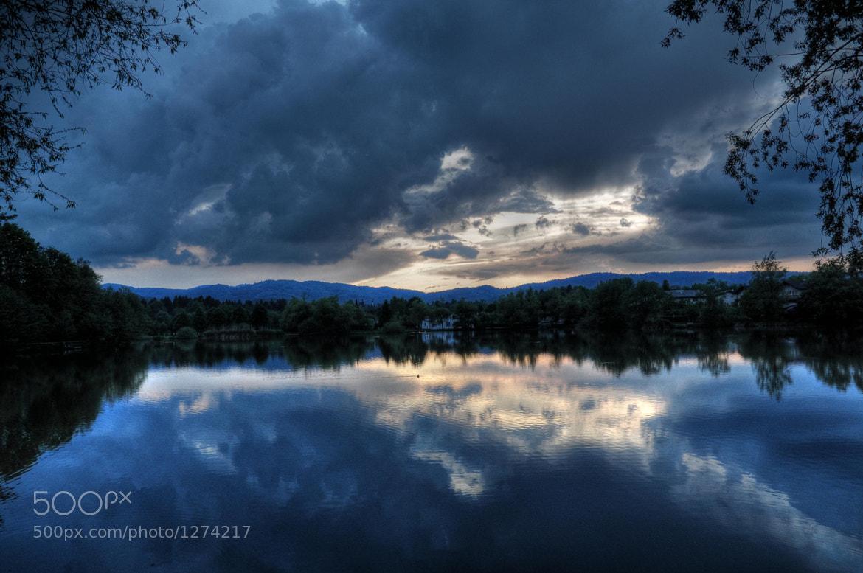 Photograph Lake sunset by Kaja Deberšek on 500px