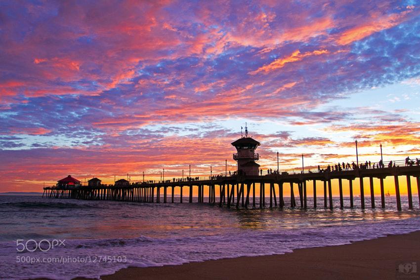 Photograph Yesterday Sunset at Huntington Beach Pier by Nhut Pham on 500px