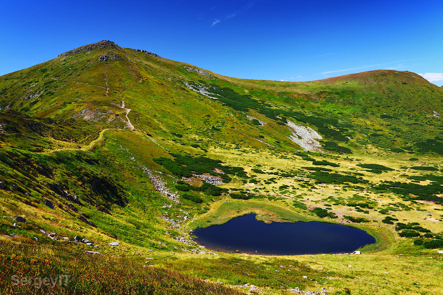 Photograph Mountain lake and green hills by Sergiy Trofimov on 500px