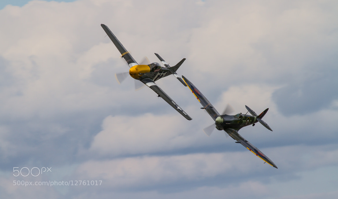 Photograph Spitfire & P51 mustang by Andrew Wickens on 500px