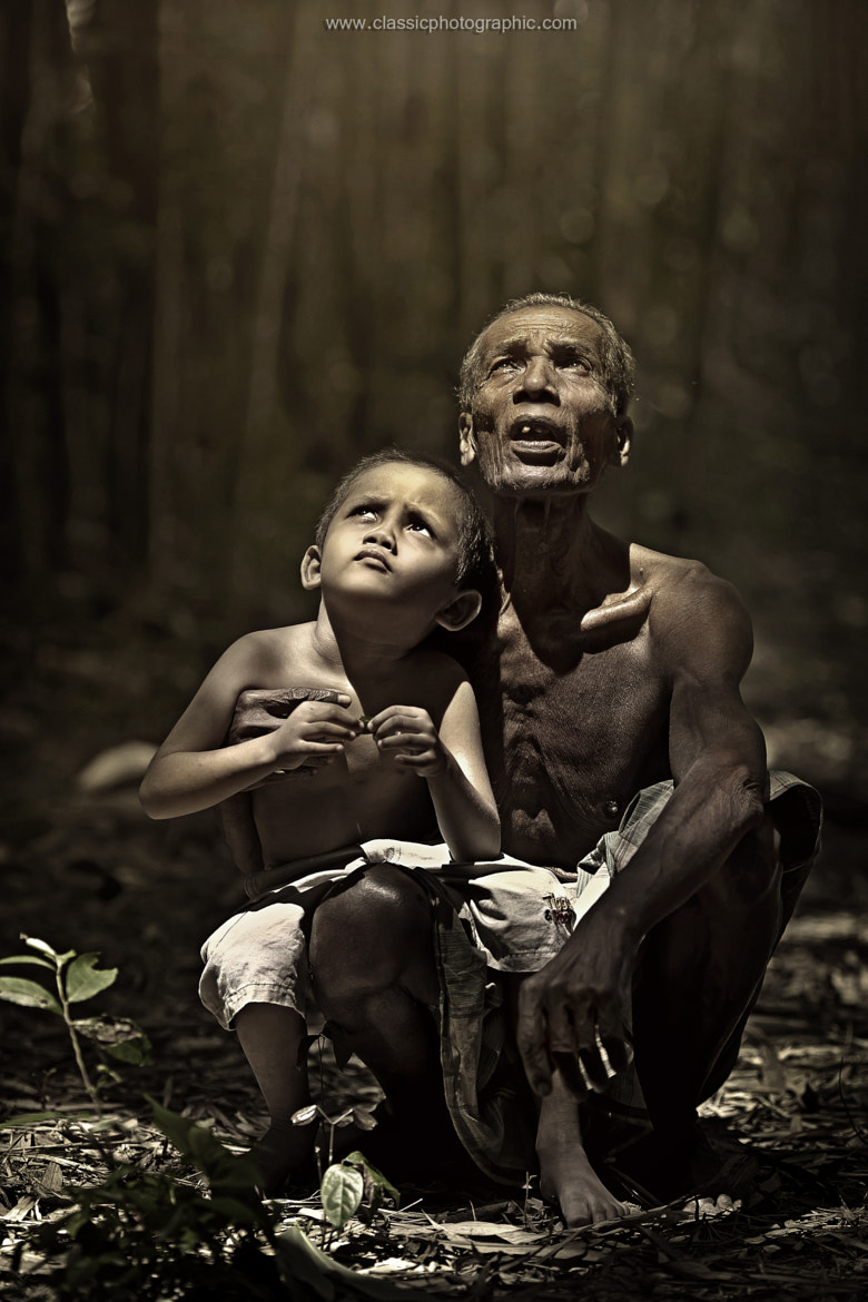 Photograph grandfather and grandson by abe less on 500px