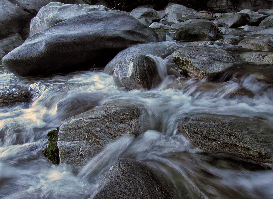 Photograph running water II by Sandra Löber on 500px