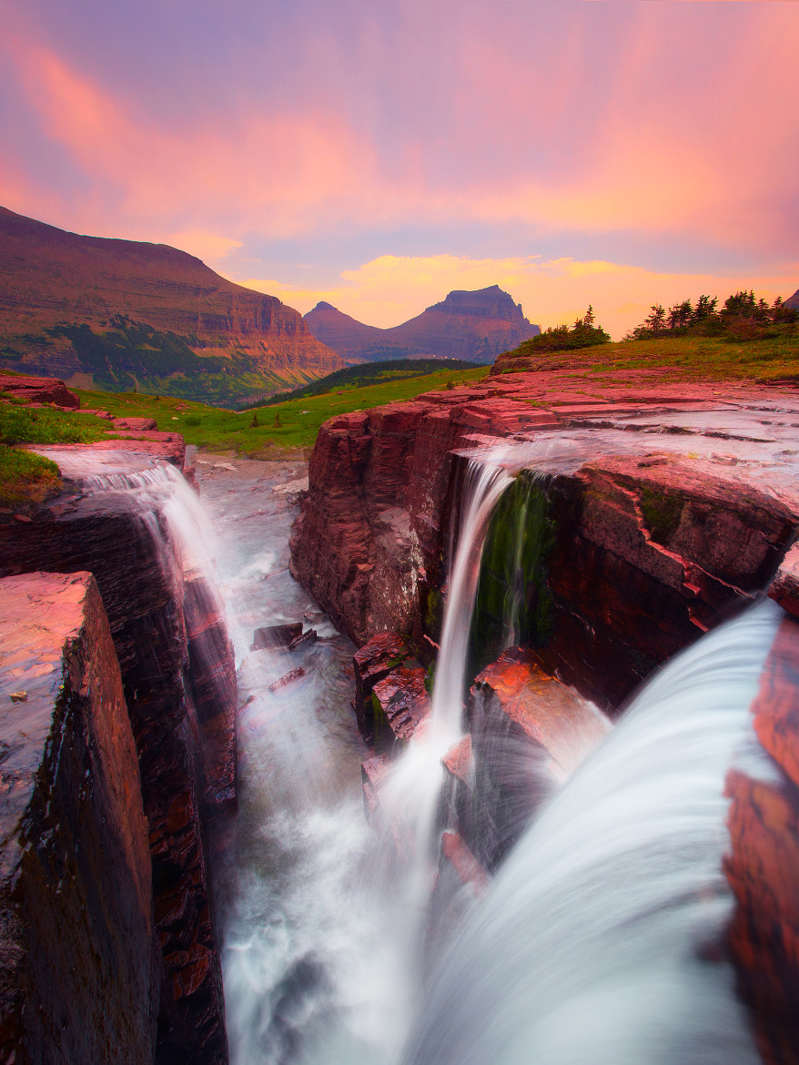 Photograph Triple Falls - Glacier National Park by Kevin McNeal on 500px