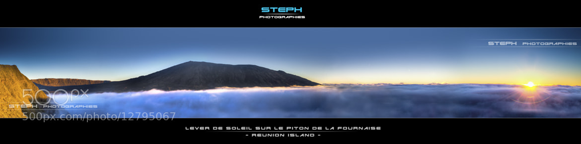 Photograph Panorama du Lever de soleil sur le Piton de la Fournaise by Steph Photographies  on 500px
