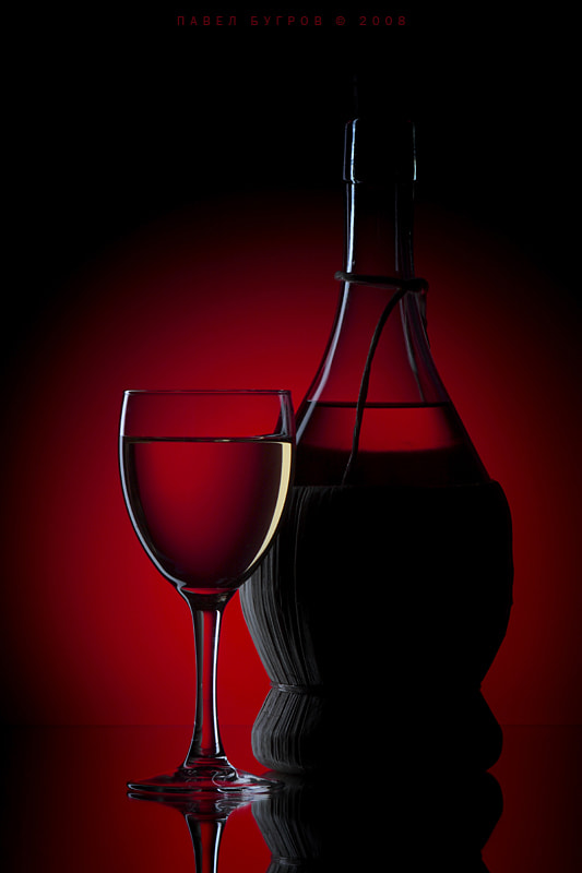 Photograph Wine on a red background by Pavel Bugrov on 500px