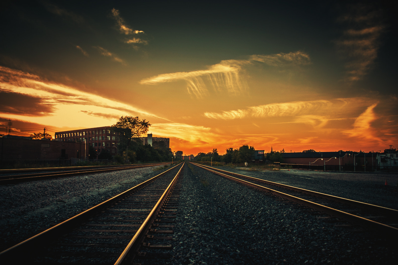 Photograph Railside Sunset by Ashton Pal on 500px