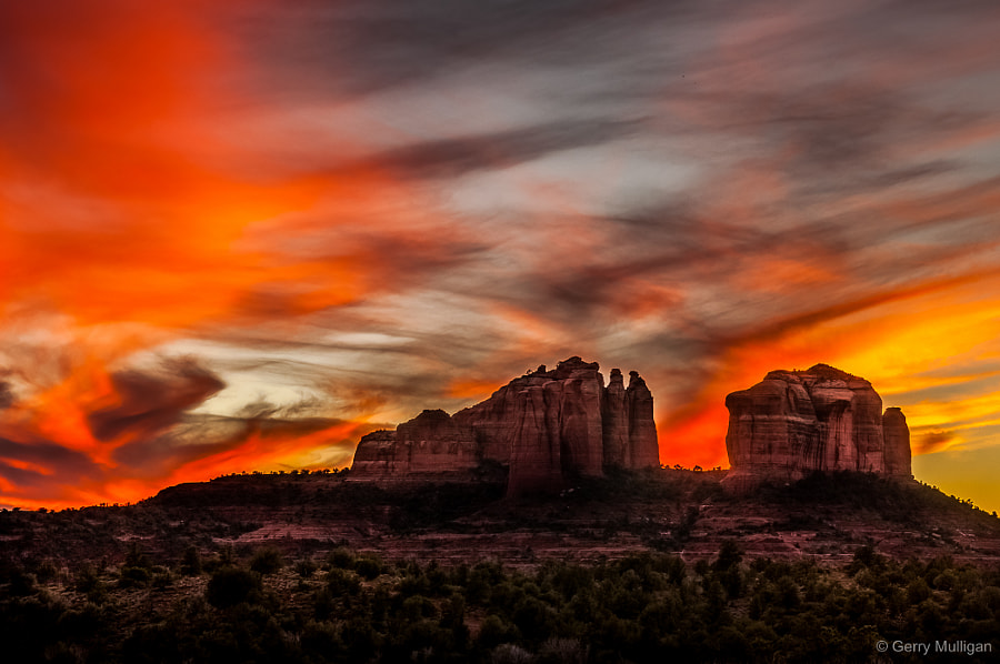 Sunset from the east of Cathedral Rock by Gerry Mulligan on 500px.com