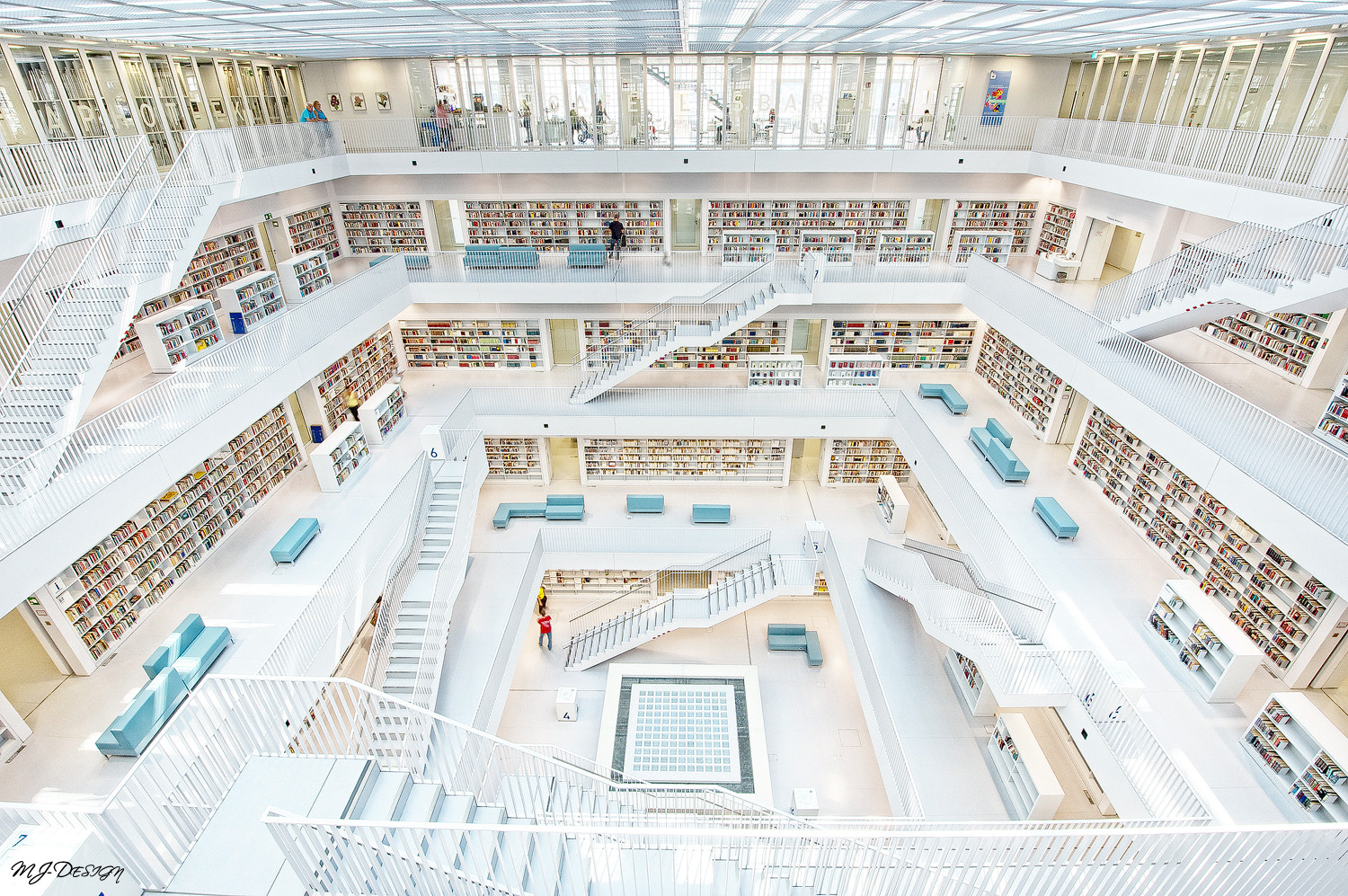 Photograph ** Stuttgart Library Inside ** by MJ Design on 500px