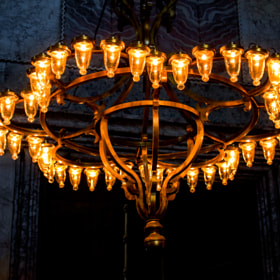 Photograph GlowingChandelier by Lukas Bachschwell