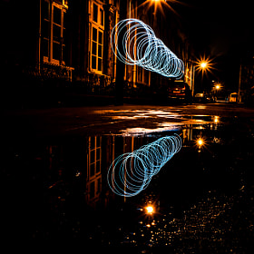 light painting blue(of ) by Mohan Manian