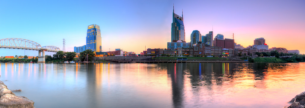 Photograph A Panorama of Downtown Nashville Tennessee by Chriss Goyenechea on 500px