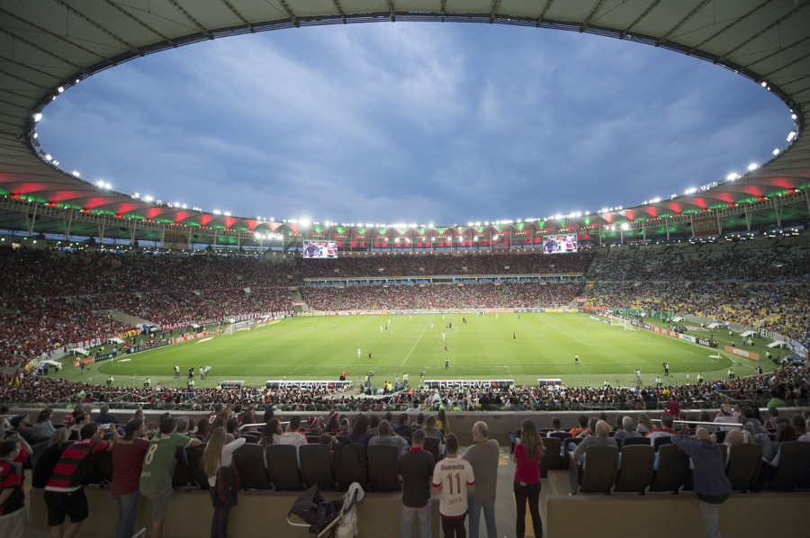 Maracana Stadium during a soccer game by Luca Atalla on 500px.com