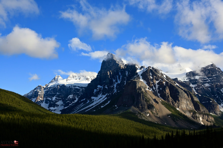 Mountains by Moraine Lake