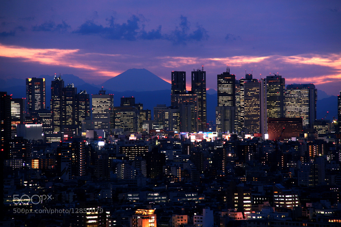 Photograph Tokyo and Mt. Fuji by Alan Nee on 500px