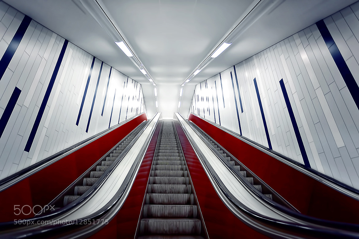 Photograph escalator by Bildwerker Freiburg on 500px
