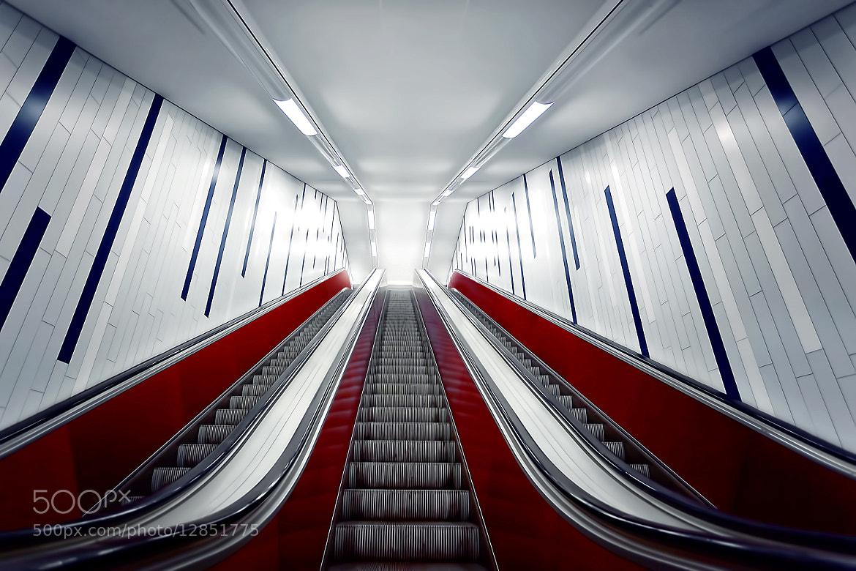 Photograph escalator by Bildwerker Freiburg on 500px