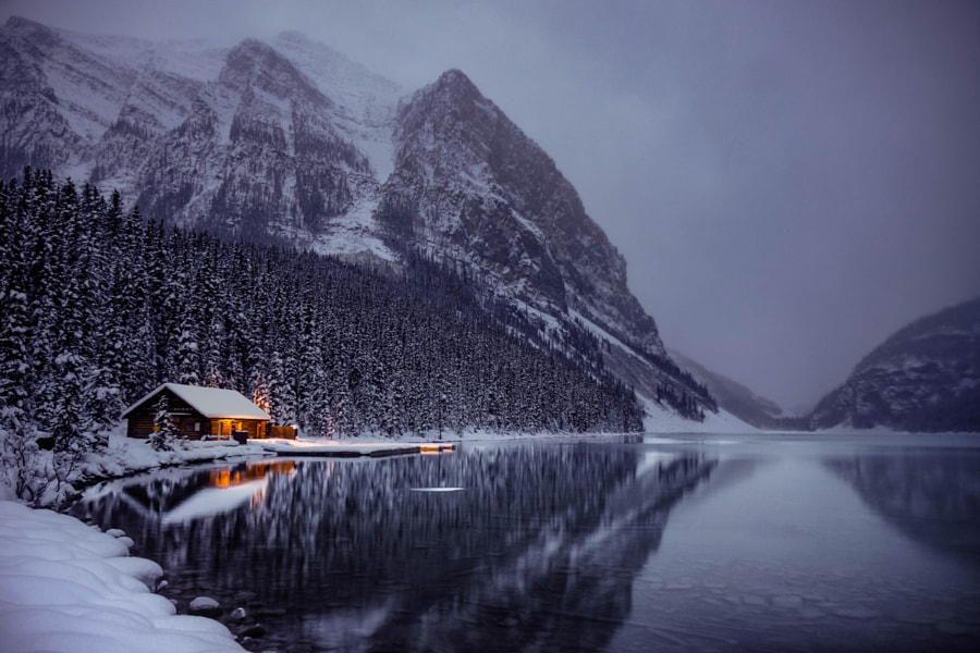 Winter Lake Louise by Nazmul Islam on 500px.com