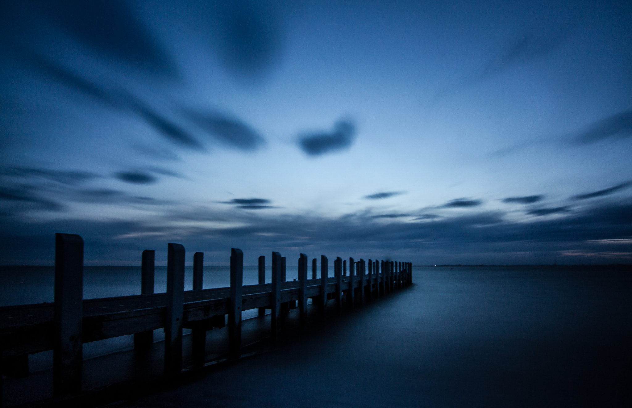 Photograph Blue Hour at the Pier by Gavin Queit on 500px