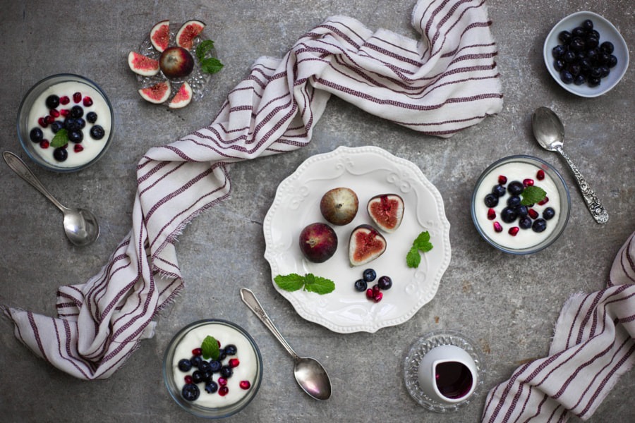 Breakfast Figs and Yogurt Fruit Cups by Anissa Craig on 500px.com