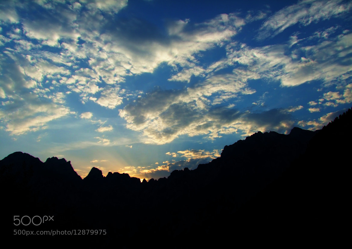 Photograph sunset behind the mountains by Gianpiero Menel on 500px
