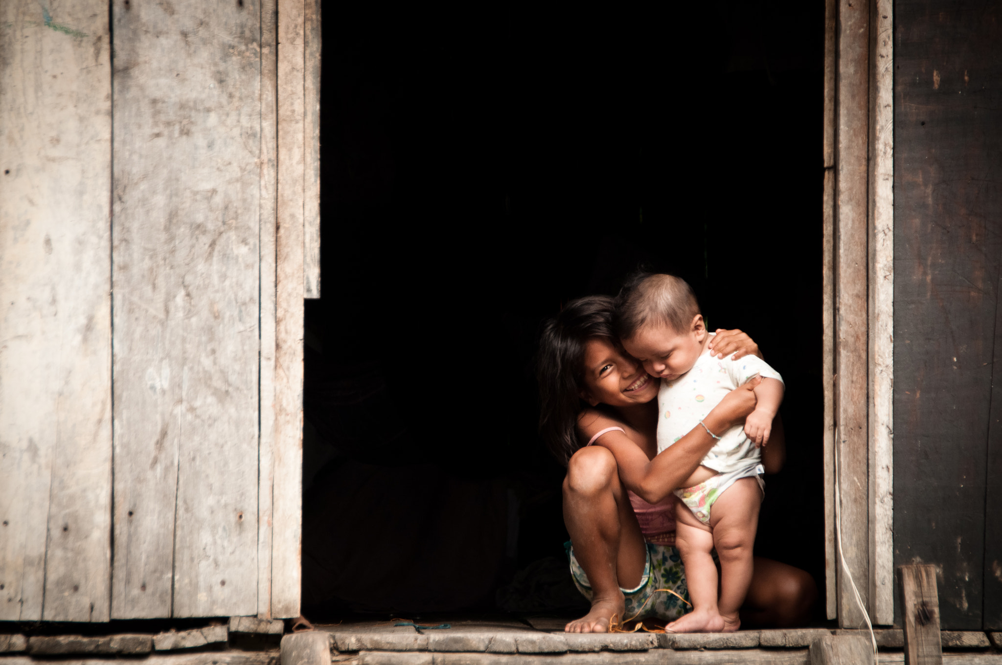 Photograph Sibling Love by Tim Beccue on 500px