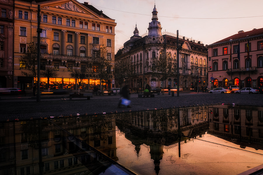 Cluj - Unirii Square by Alexandru Mahu on 500px.com
