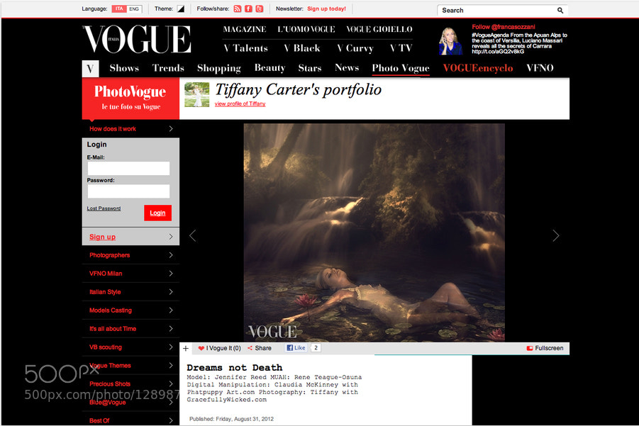 Photograph Vogue Italia by Phatpuppy Art on 500px