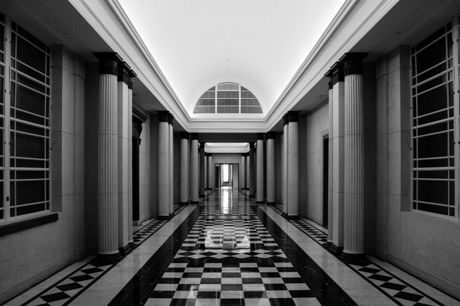 Lines and Shapes of an old corridor