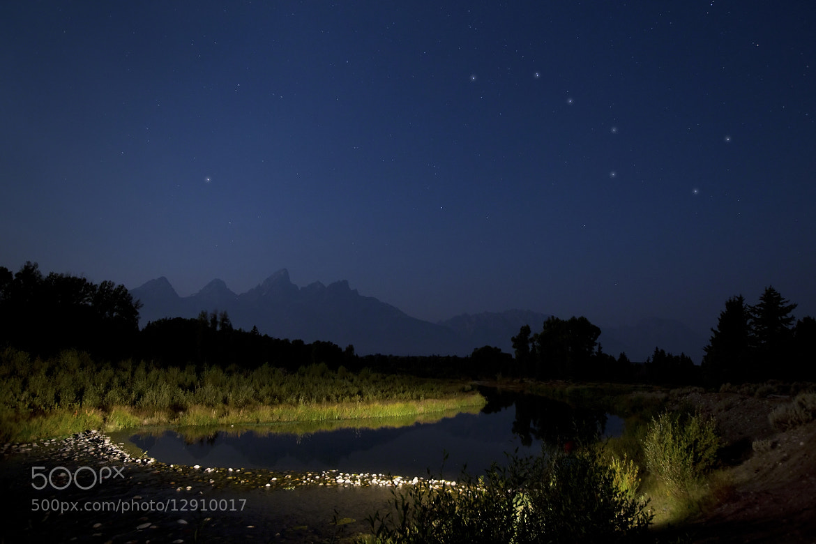 Photograph Schwabacher's Landing Shoals... Big Dipper Over The Tetons by A.M. Ruttle on 500px