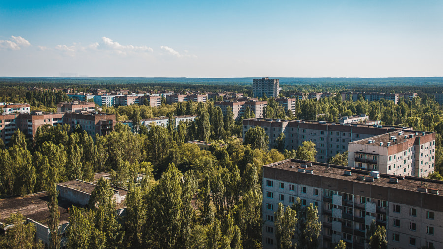 View of the abandoned city of Pripyat by Marian Botvyn on 500px.com