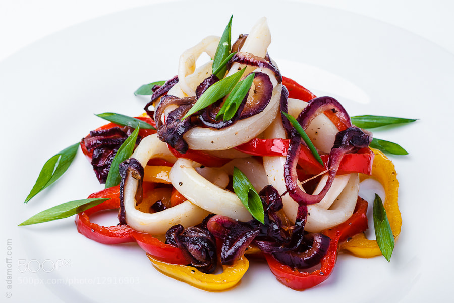 Photograph squid rings with vegetables by Sergey Adamoff on 500px