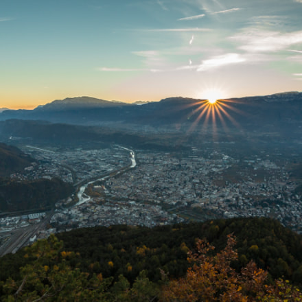 Sunset over Bolzano