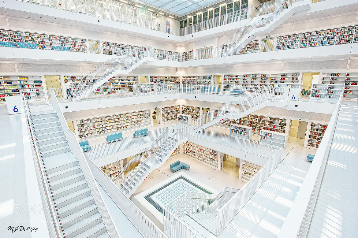 Photograph ** Stuttgart Library Part Two ** by MJ Design on 500px
