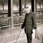On a cold december morning, the paths are deserted, except for…… this man….He smiles serenely as he slowly writes on the path, in perfect calligraphy, what my interpreter said it was…poetry. He dips the rag tied to the end of the stick in water and slowly moves along. Few feet behind the letters fade and almost vanish frozen in the cold air. I've never felt so guilty about taking a shot….
