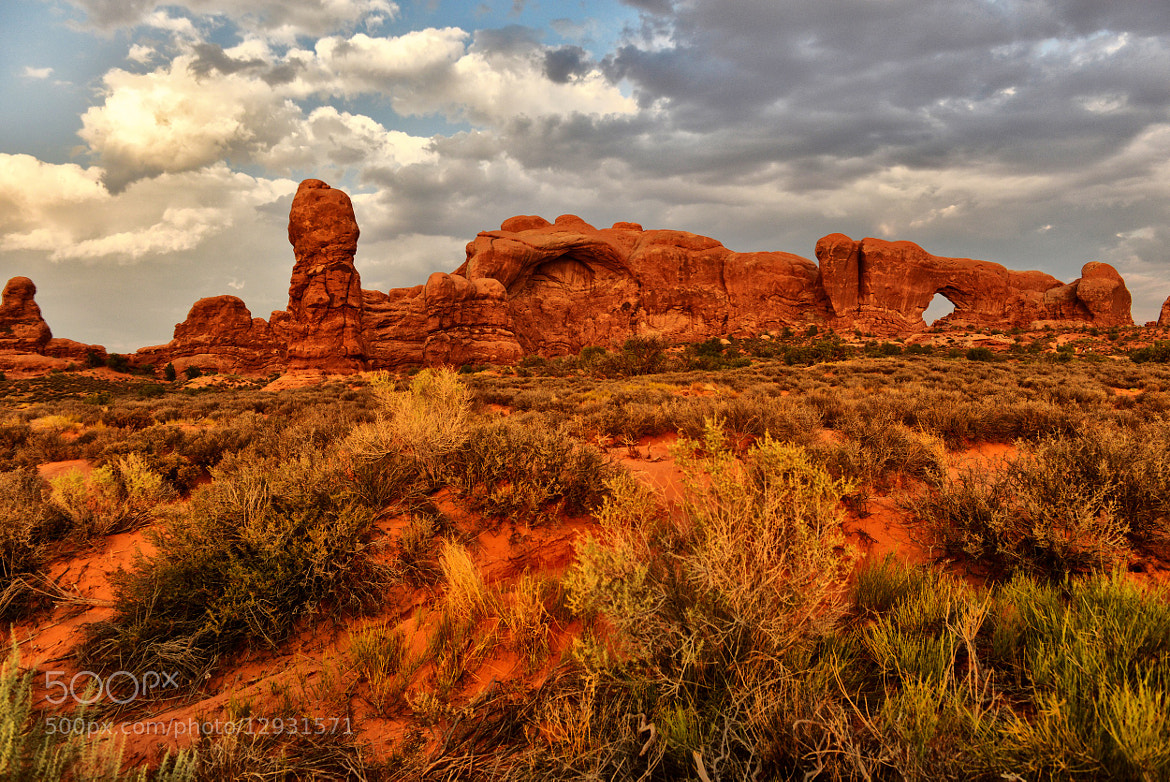 Photograph Storm Clouds over Arches by Jeff Clow on 500px