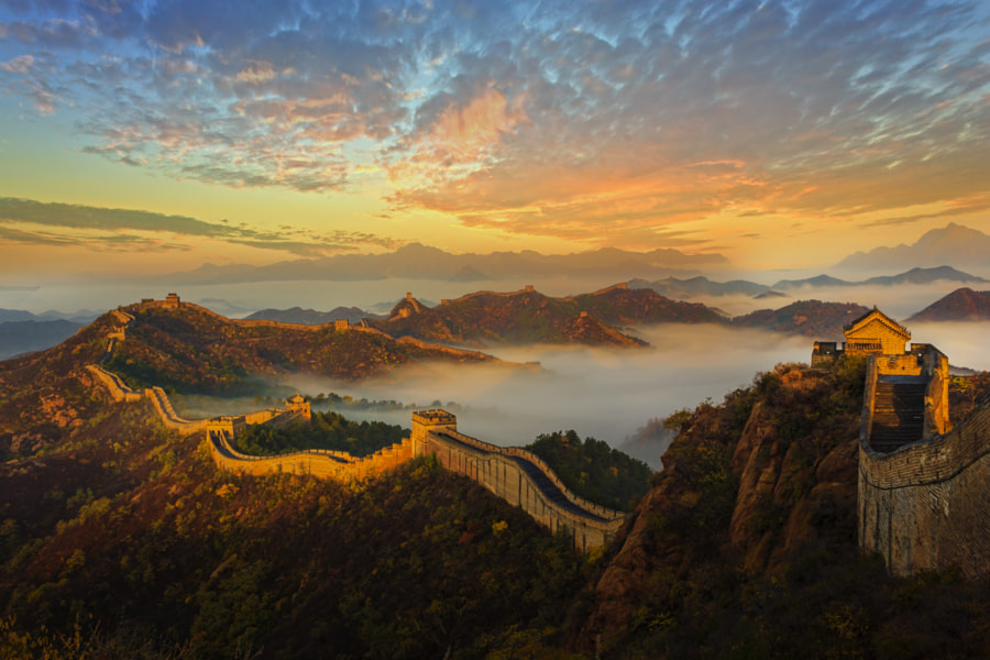 The Golden Mountain Great Wall by Bobby Chen on 500px.com