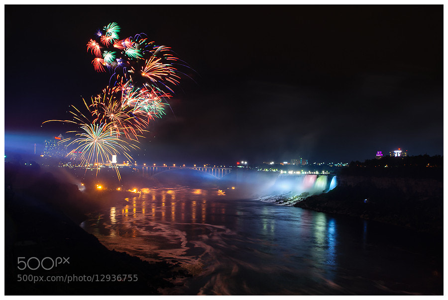 Photograph Niagara Falls Fireworks by Simon Benedičič on 500px