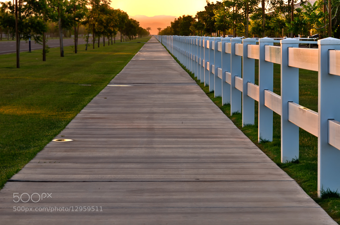 Photograph Sidewalk to the Sunrise by Chuck Sowers on 500px