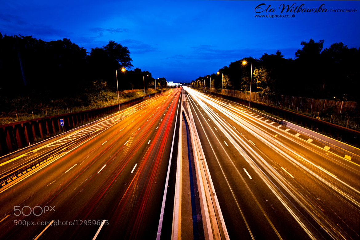 Photograph London - M25 at night by Ela Witkowska on 500px