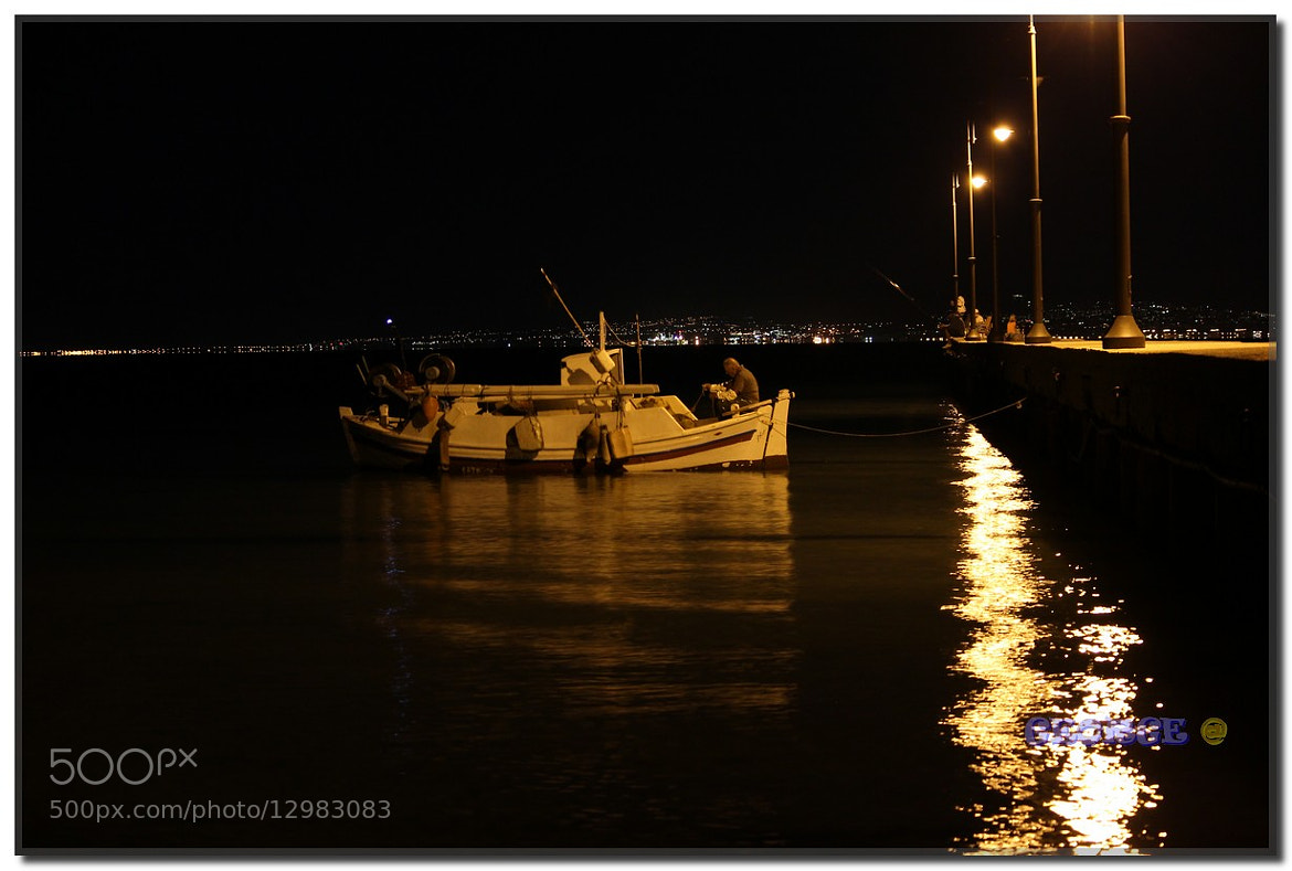 Photograph Fishing boat in Neoi Epivates Thermaikos by night  by George @ papaki on 500px