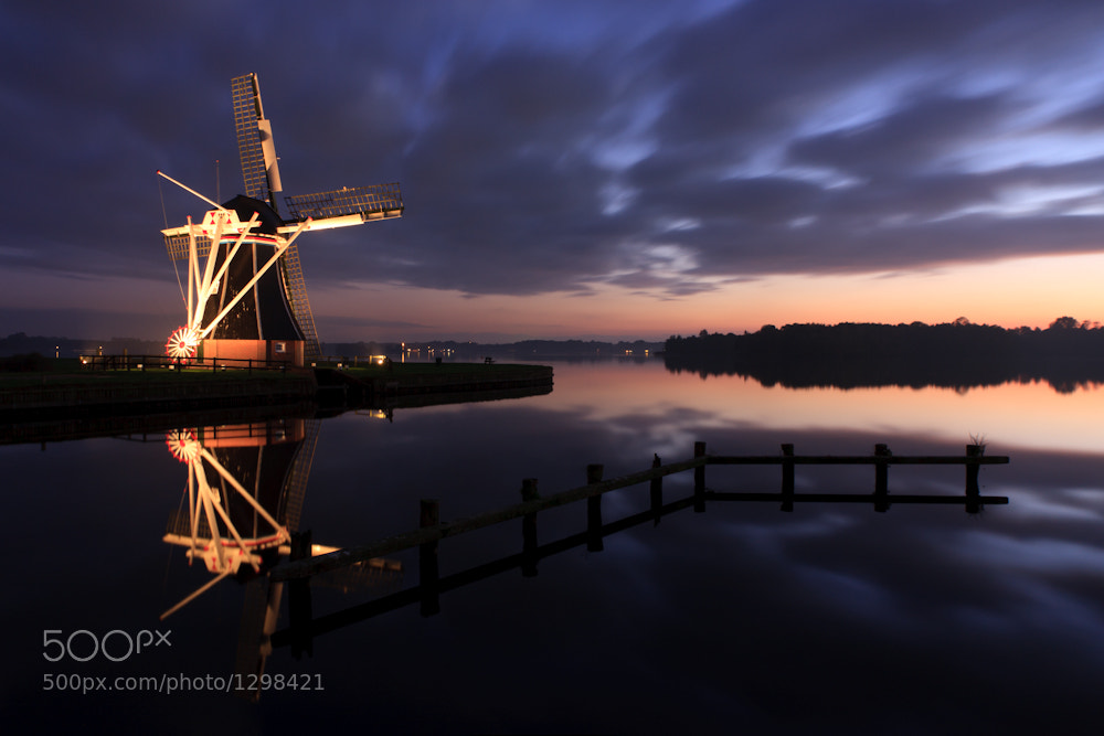 Photograph Windmill @ dusk by Sander van der Werf on 500px