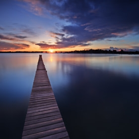 Sunrise over Holt's Point Jetty by Xenedis Photography (Xenedis)) on 500px.com