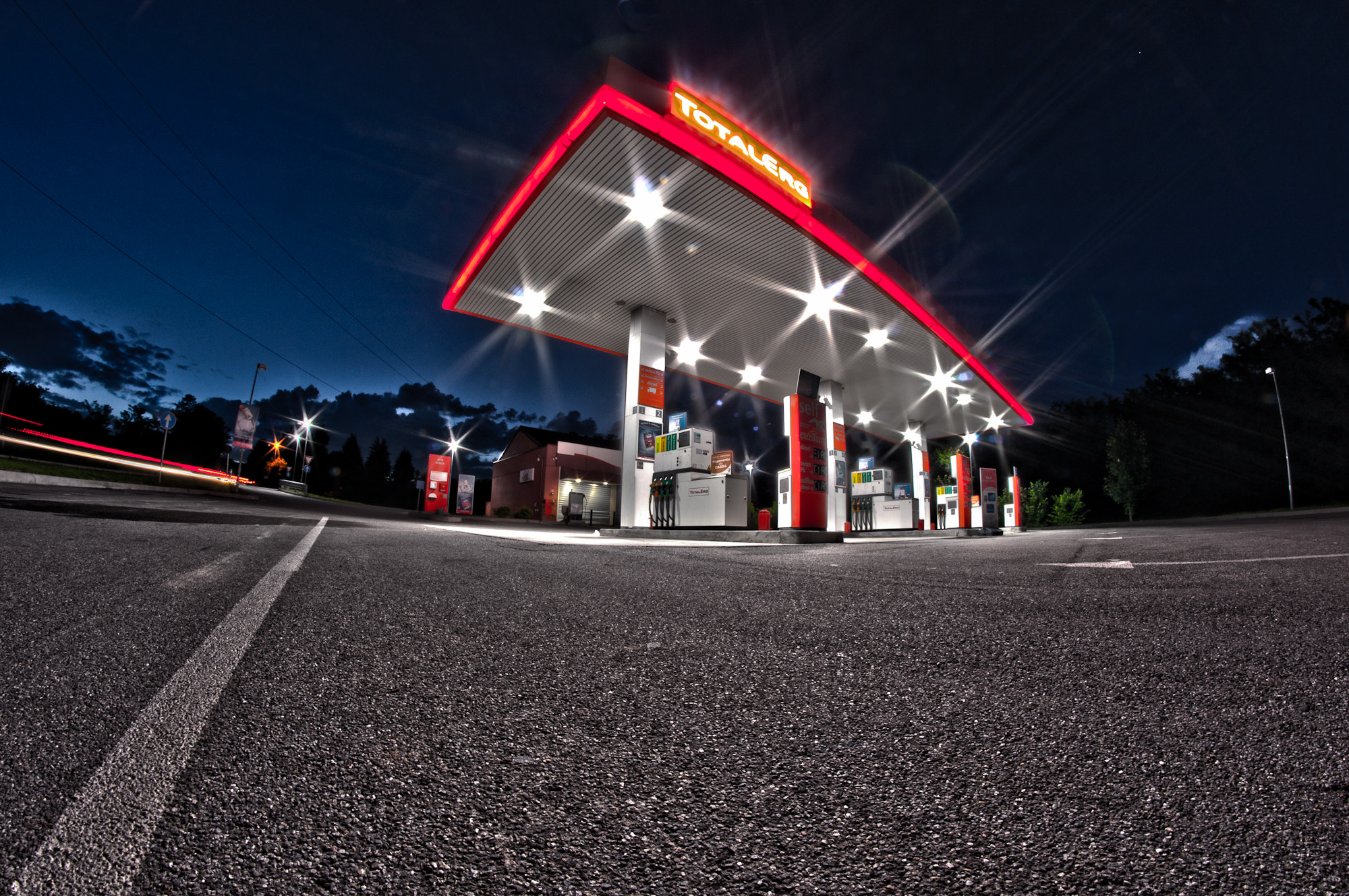 Photograph Petrol in the night by Mattia Marchiorato on 500px