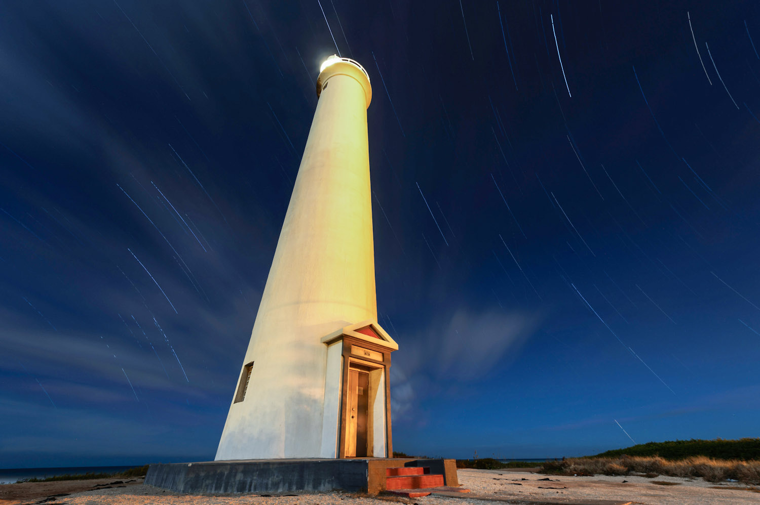 Photograph Barbers Point Star Trails by Marshall Humble on 500px