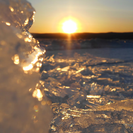 Ice on sunset, Nikon COOLPIX S4400