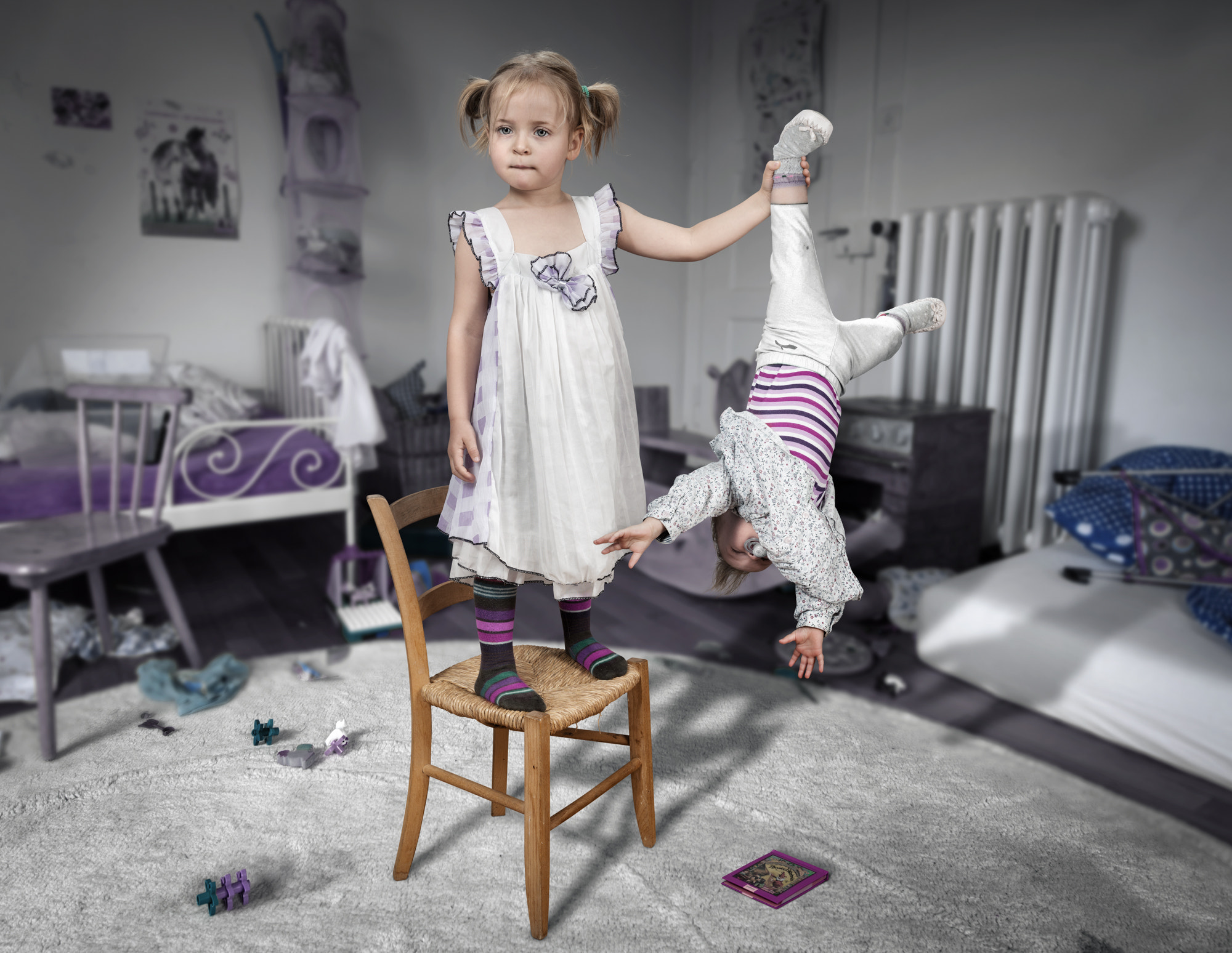 Photograph Don't touch my book... little sister! by John Wilhelm is a photoholic on 500px