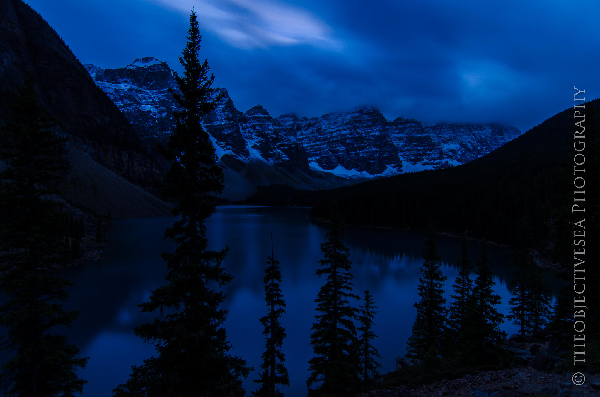 Photograph Moraine Lake at Night by Kevin Smith on 500px